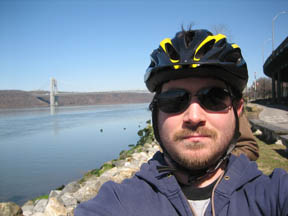 J. Matt on the Hudson bike trail.